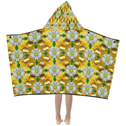 Summer festive in green grass Kids' Hooded Bath Towels