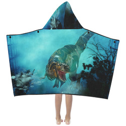 Awesome T-Rex Kids' Hooded Bath Towels