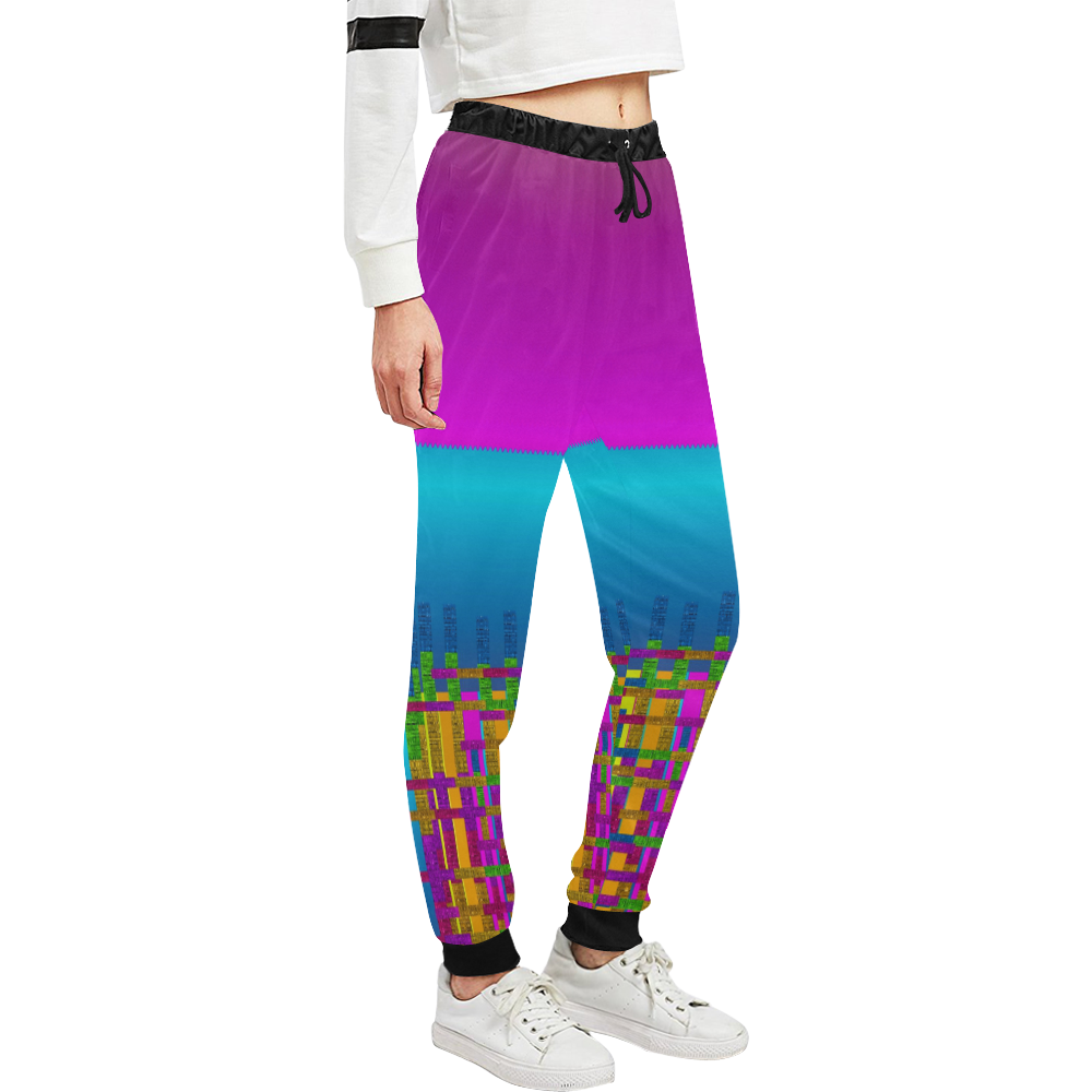 Sky earth and star fall Women's All Over Print Sweatpants (Model L11)