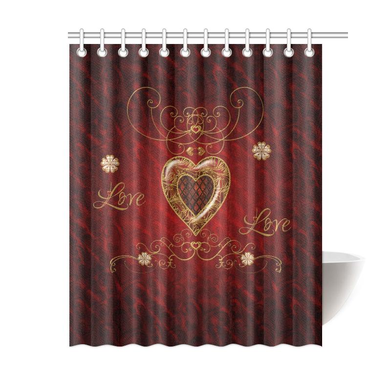 """Love, wonderful heart Shower Curtain 60""""x72"""""""