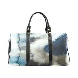 Modern Blue Watercolor Storm New Waterproof Travel Bag/Large (Model 1639)