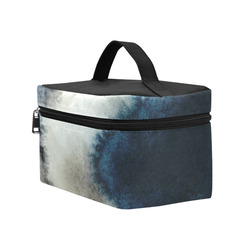 Modern Blue Watercolor Storm Cosmetic Bag/Large (Model 1658)