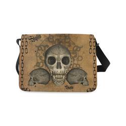 Awesome skull with celtic knot Messenger Bag (Model 1628)