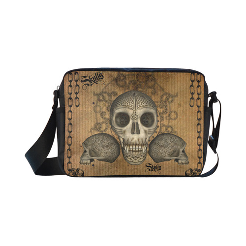 Awesome skull with celtic knot Classic Cross-body Nylon Bags (Model 1632)