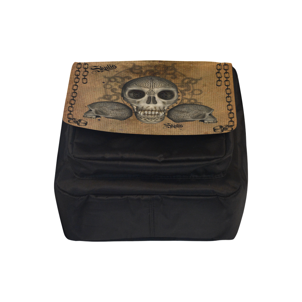 Awesome skull with celtic knot Crossbody Nylon Bags (Model 1633)
