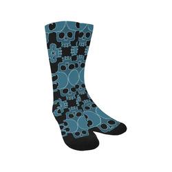 Skull Jigsaw Blue Trouser Socks