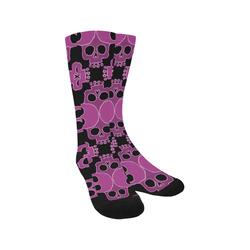 Skull Jigsaw Pink Trouser Socks
