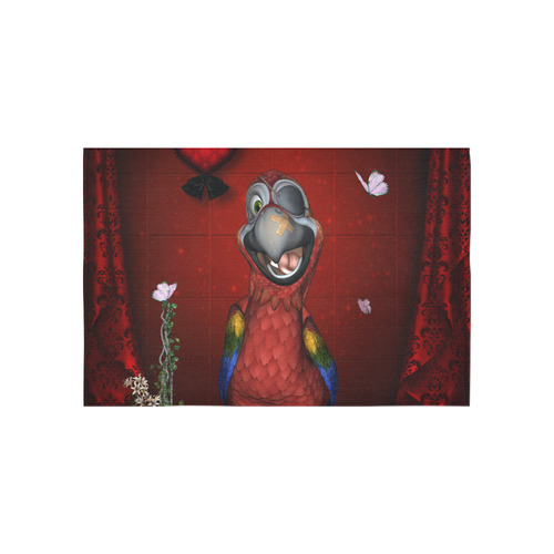 "Funny, cute parrot Cotton Linen Wall Tapestry 60""x 40"""