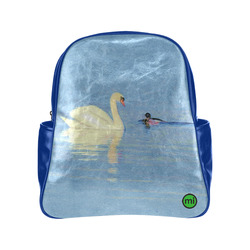 Swan Meets Duck. Inspired by the Magic Island of Gotland. Multi-Pockets Backpack (Model 1636)