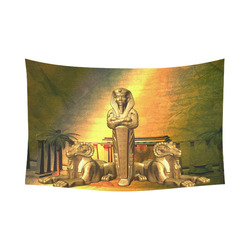 "Anubis, the egyptian god Cotton Linen Wall Tapestry 90""x 60"""