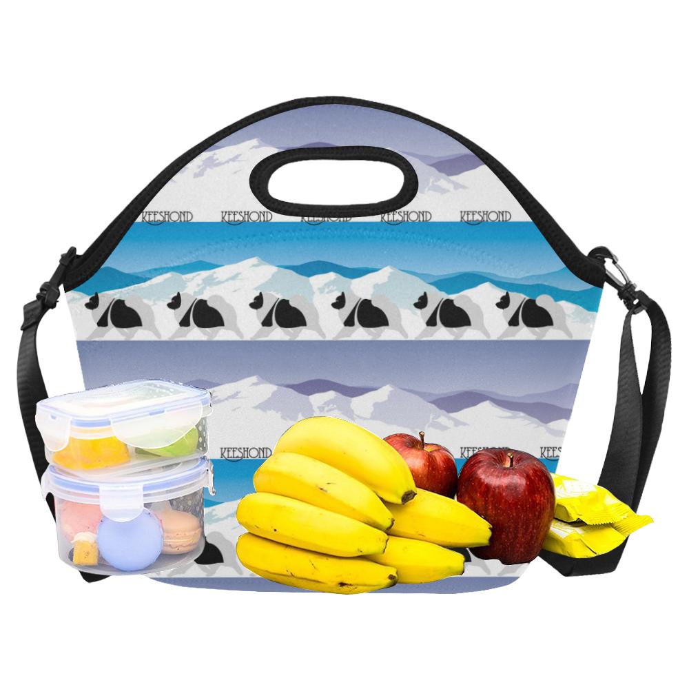 Keeshond Rockin the Rockies Neoprene Lunch Bag/Large (Model 1669)