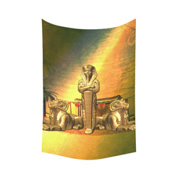 """Anubis, the egyptian god Cotton Linen Wall Tapestry 60""""x 90"""""""