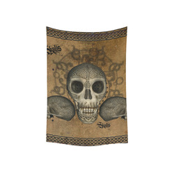 "Awesome skull with celtic knot Cotton Linen Wall Tapestry 40""x 60"""