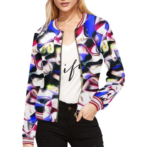Mindworks Collage #14 All Over Print Bomber Jacket for Women (Model H21)