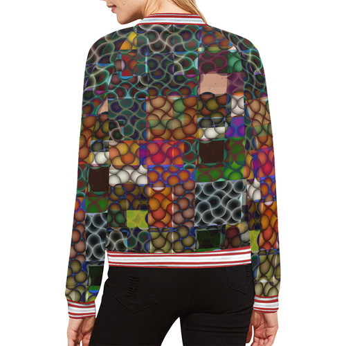 Blast-o-Blob #7A All Over Print Bomber Jacket for Women (Model H21)