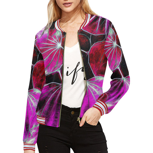 Foliage #9 All Over Print Bomber Jacket for Women (Model H21)
