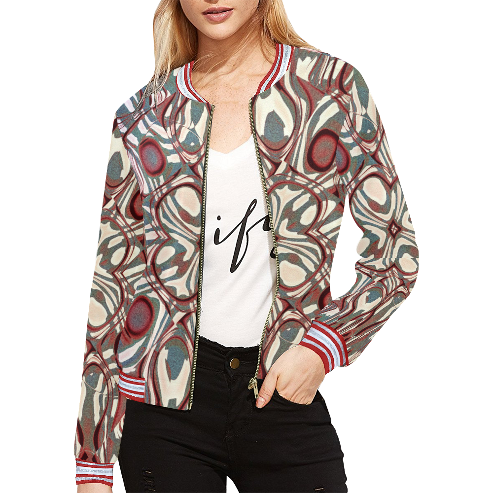 Blast-o-Blob #6 All Over Print Bomber Jacket for Women (Model H21)