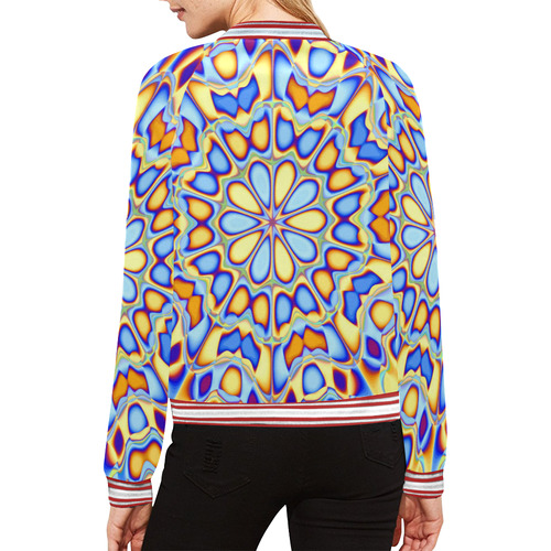 Blast-o-Blob #3 All Over Print Bomber Jacket for Women (Model H21)