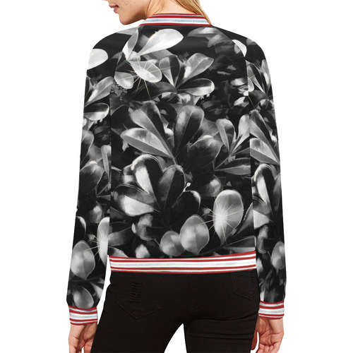 Foliage #1 All Over Print Bomber Jacket for Women (Model H21)