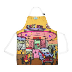 Crazy Diner Popart by Nico Bielow All Over Print Apron