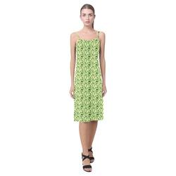 St Patrick's Day Clovers Alcestis Slip Dress (Model D05)