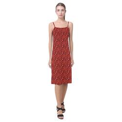 Cherry Tomato Red Hearts Alcestis Slip Dress (Model D05)