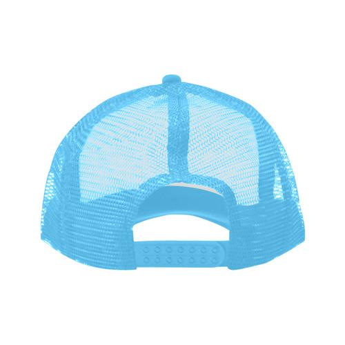 Alphabet A Light Blue Trucker Hat