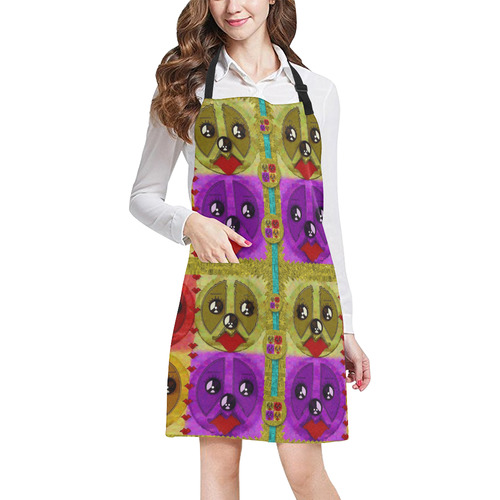 peace dogs All Over Print Apron
