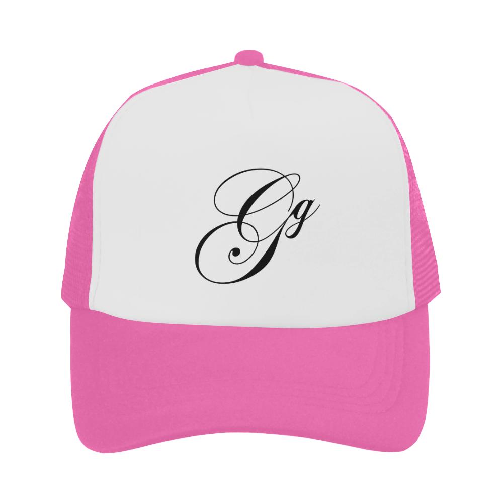 Alphabet G Pink Trucker Hat