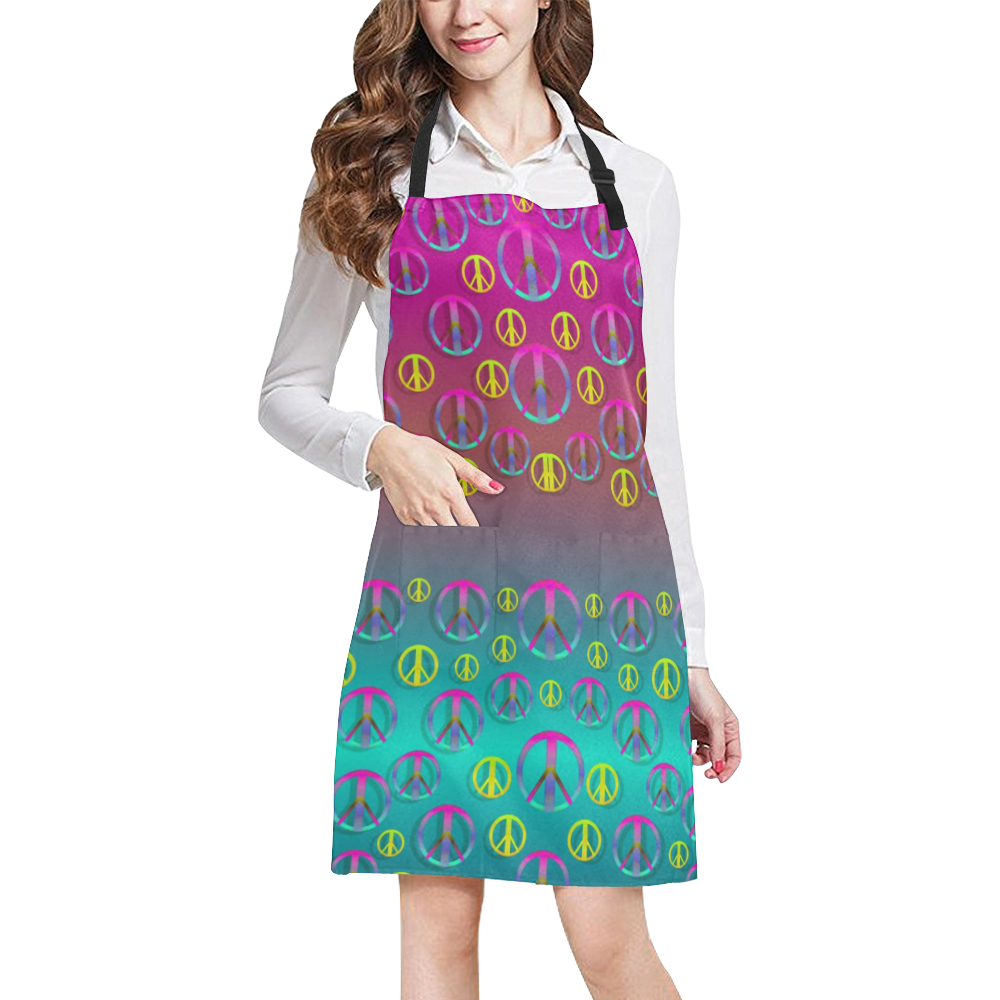 Years of peace living in a paradise All Over Print Apron