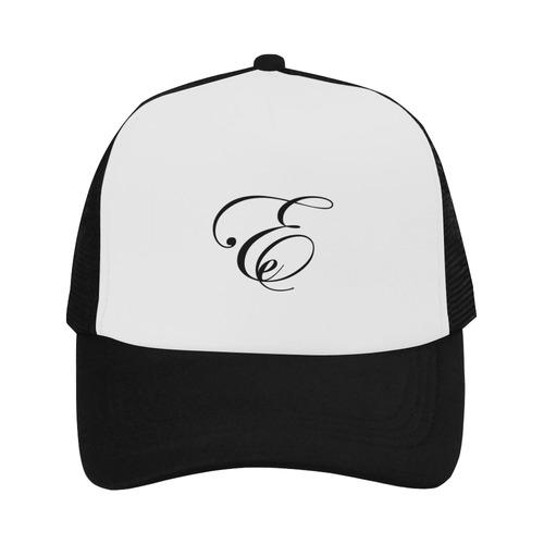 Alphabet E Black Trucker Hat