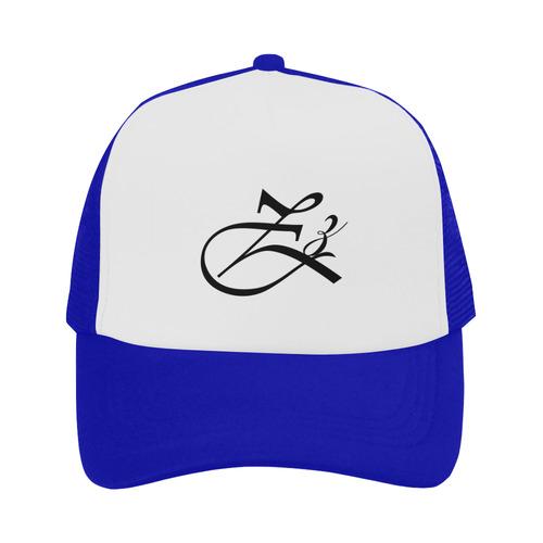 Alphabet Z Blue Trucker Hat