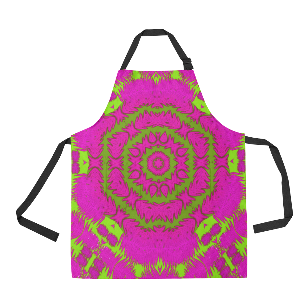 fern forest star mandala decorative All Over Print Apron