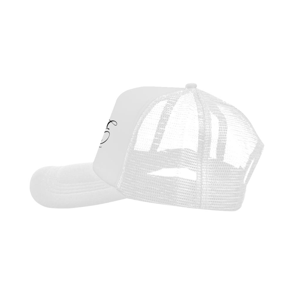 Alphabet E White Trucker Hat