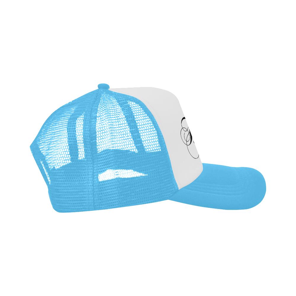 Alphabet H Light Blue Trucker Hat