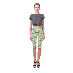 Cute floral 218B by JamColors Hestia Cropped Leggings (Model L03)