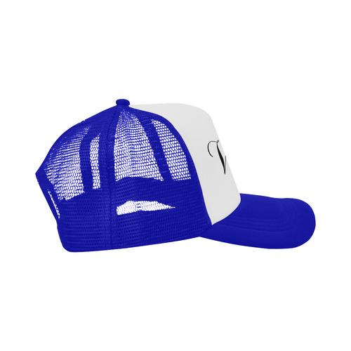 Alphabet V Blue Trucker Hat