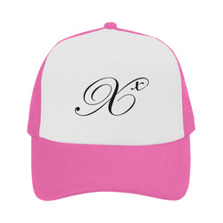 Alphabet X Pink Trucker Hat