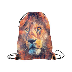 "lion art #lion #animals #cat Large Drawstring Bag Model 1604 (Twin Sides)  16.5""(W) * 19.3""(H)"