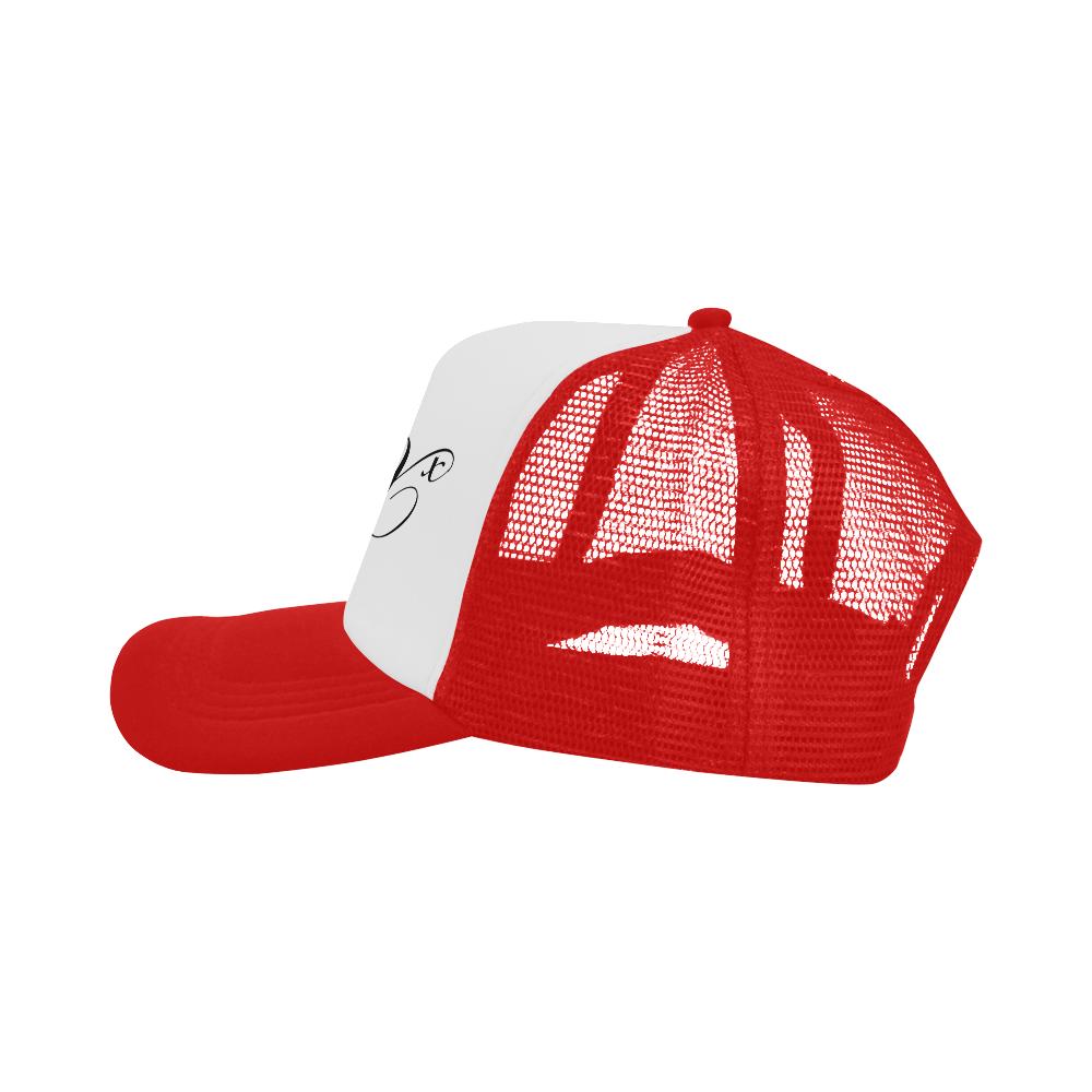 Alphabet X Red Trucker Hat