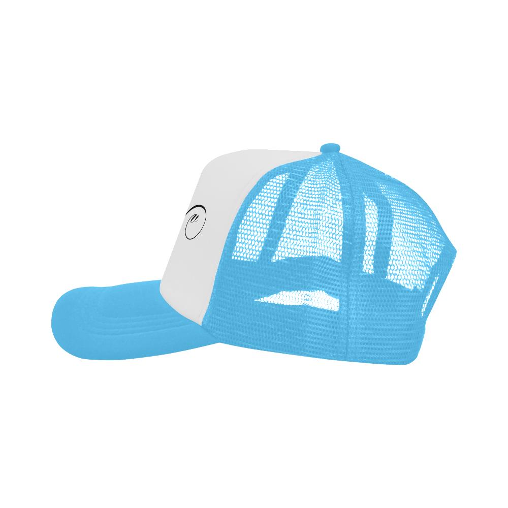 Alphabet V Light Blue Trucker Hat