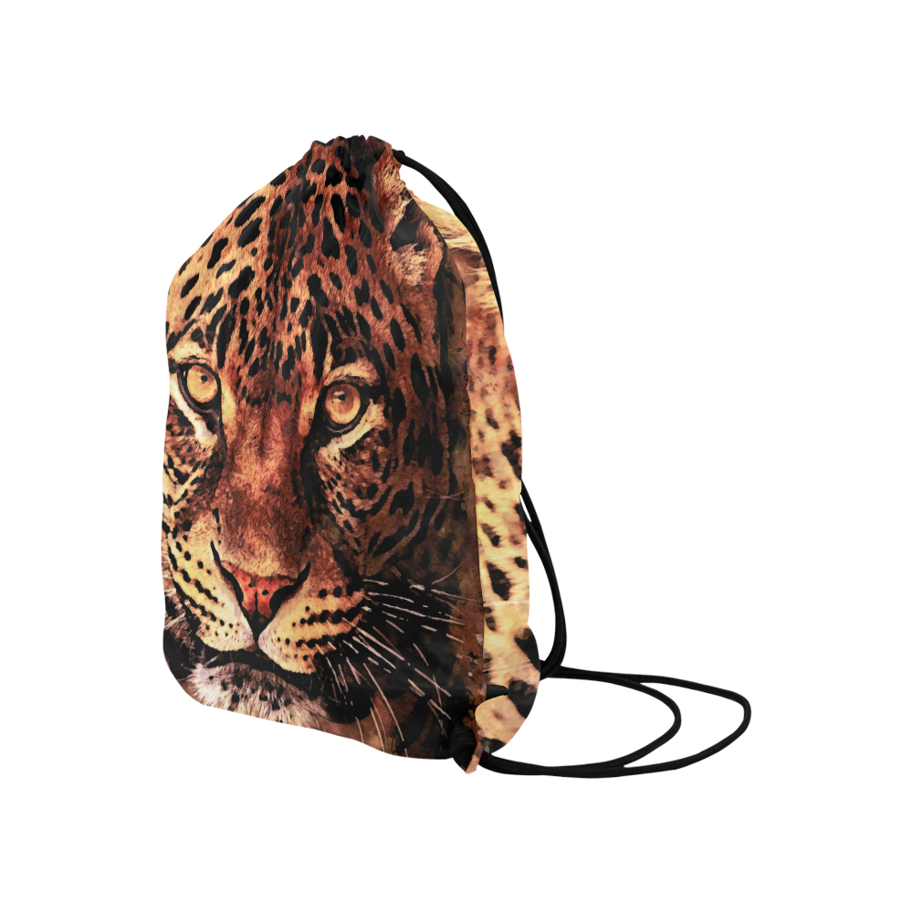 "gepard leopard #gepard #leopard #cat Large Drawstring Bag Model 1604 (Twin Sides)  16.5""(W) * 19.3""(H)"