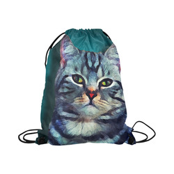 "cat Bella #cat #cats #kitty Large Drawstring Bag Model 1604 (Twin Sides)  16.5""(W) * 19.3""(H)"