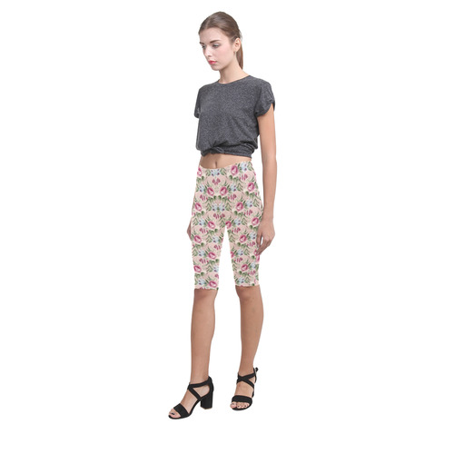 Cute floral 218A by JamColors Hestia Cropped Leggings (Model L03)