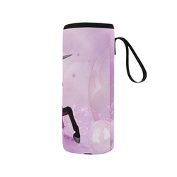 Awesome unicorn in violet colors Neoprene Water Bottle Pouch/Medium