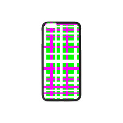 Fuchsia & Green Interlocking Stripes Rubber Case for iPhone 6/6s Plus