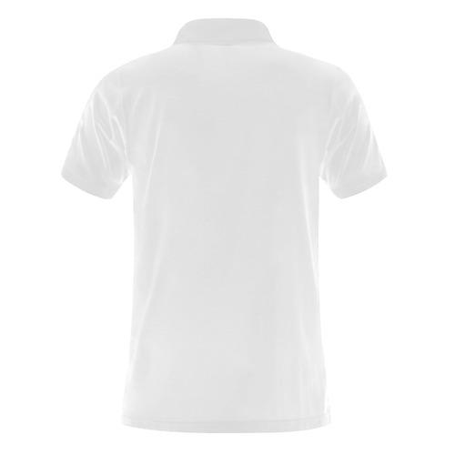 Alphabet M Men's Polo Shirt (Model T24)