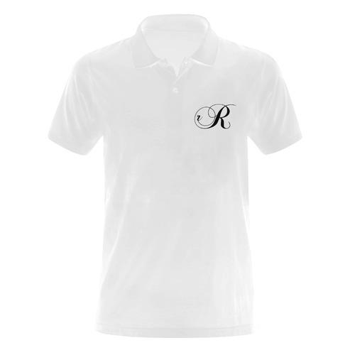 Alphabet R Men's Polo Shirt (Model T24)