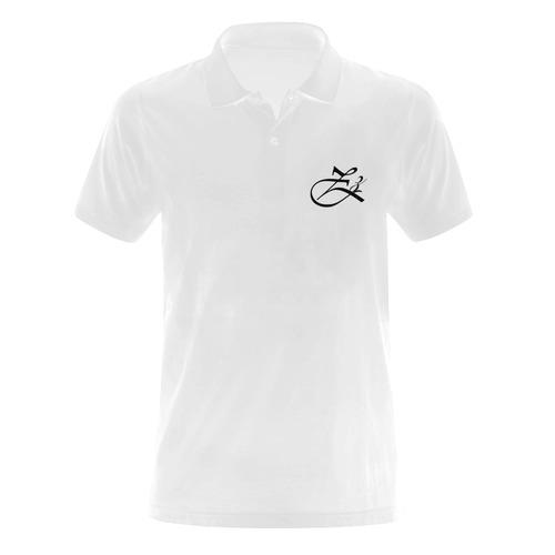 Alphabet Z Men's Polo Shirt (Model T24)