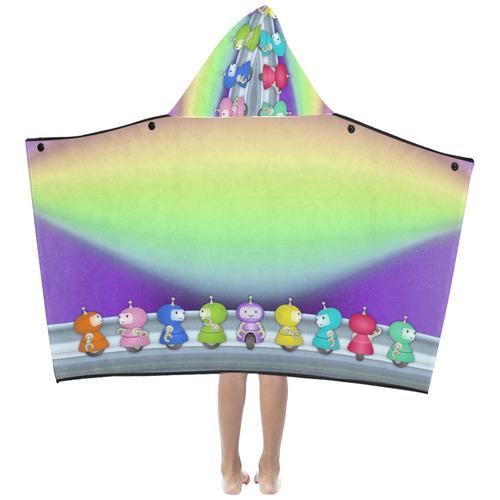 9 robots Kids' Hooded Bath Towels